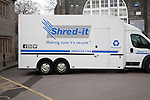 Shred-it paper secure recycling vehicle, Somerset, England