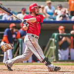 12 March 2014: Washington Nationals infielder Will Rhymes in action during a Spring Training game against the Houston Astros at Osceola County Stadium in Kissimmee, Florida. The Astros rallied in the bottom of the 9th to edge out the Nationals 10-9 in Grapefruit League play. Mandatory Credit: Ed Wolfstein Photo *** RAW (NEF) Image File Available ***