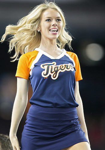 June 16, 2014:  Detroit Tigers Energy Squad member during MLB game action between the Kansas City Royals and the Detroit Tigers at Comerica Park in Detroit, Michigan.  The Royals defeated the Tigers 11-8.