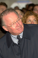 Montreal, Dec 3rd, 2001<br /> <br /> Quebec Premier Bernard Landry smile while listening to a speech during the official launch of the new Quebec Library's (Grande Bibliothcque du Qu&Egrave;bec)<br /> construction on Berri street in Montreal, CANADA, Monday december 3rd, 2001.<br /> <br /> (Photo by Pierre Roussel - Images Distribution)
