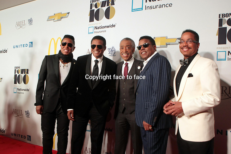 Jermaine Jackson, Jackie Jackson, Rev. Al Sharpton, Tito Jackson, Marlon Jackson attend the 2013 Ebony Power 100 Gala held at Jazz at Lincoln Center on November 4, 2013 in New York City.<br />