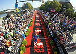 CHATTANOOGA, TN - SEPTEMBER 8:  Women's 3rd Place Laura Phillip of Germany crosses the finish line during the the Women's IRONMAN 70.3 St. World Championships on September 9, 2017 in Chattanooga, Tennessee. (Photo by Donald Miralle for IRONMAN)