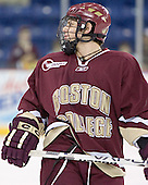 Nathan Gerbe - The University of Massachusetts-Lowell River Hawks defeated the Boston College Eagles 6-3 on Saturday, February 25, 2006, at the Paul E. Tsongas Arena in Lowell, MA.