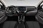 Stock photo of straight dashboard view of 2016 Mitsubishi L 200 Intense 4 Door Pickup Dashboard