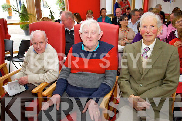 William Casey (Doon), Donie Carmody (Kilflynn) and David Dillane (Abbeydorney) pictured at the opening of the Baile Mhuire Daycare centre, Balloonagh, Tralee, on Thursday last.
