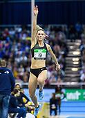 2nd February 2019, Karlsruhe, Germany;  Triple Jump: Kristin Gierisch (GER). IAAF Indoor athletics meeting, Karlsruhe