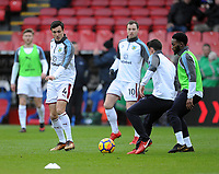 Burnley's Jack Cork during the pre-match warm-up <br /> <br /> Photographer Ashley Crowden/CameraSport<br /> <br /> The Premier League - Crystal Palace v Burnley - Saturday 13th January 2018 - Selhurst Park - London<br /> <br /> World Copyright &copy; 2018 CameraSport. All rights reserved. 43 Linden Ave. Countesthorpe. Leicester. England. LE8 5PG - Tel: +44 (0) 116 277 4147 - admin@camerasport.com - www.camerasport.com