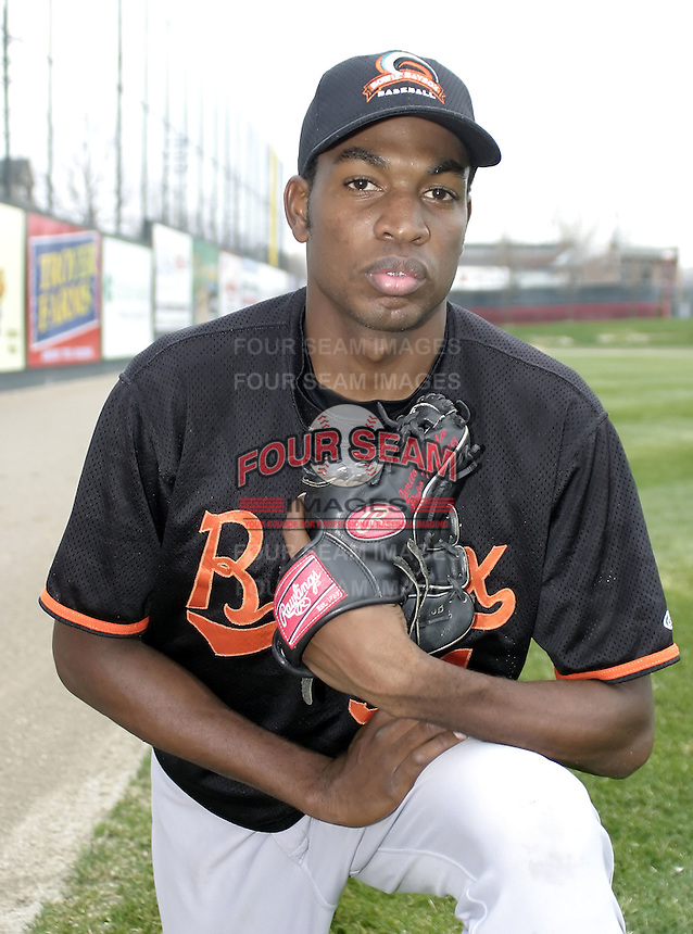 April 17, 2004:  Pitcher Denny Bautista of the Bowie BaySox, AA Eastern League affiliate of the Baltimore Orioles, during a game at Jerry Uht Park in Erie, PA.  Photo by:  Mike Janes/Four Seam Images