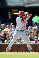 Hagerstown Suns third baseman Drew Ward (11) at bat during a game against the Lexington Legends on May 19, 2014 at Whitaker Bank Ballpark in Lexington, Kentucky.  Lexington defeated Hagerstown 10-8.  (Mike Janes/Four Seam Images)