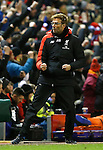Jurgen Klopp manager of Liverpool celebrates the second goal - English Premier League - Liverpool vs Manchester City - Anfield Stadium - Liverpool - England - 3rd March 2016 - Picture Simon Bellis/Sportimage