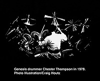 Genesis drummer Chester Thompson. Photo/Craig Houtz