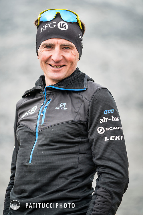 A portrait of Ueli Steck during his climbing expedition to the 8000 meter peak Shishapangma, Tibet