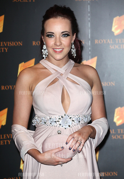 Stephanie Davis arriving for the RTS Awards 2013, at The Grosvenor House Hotel, London. 19/03/2013 Picture by: Alexandra Glen / Featureflash
