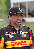 May 11, 2013; Commerce, GA, USA: NHRA funny car driver Del Worsham after winning the Southern Nationals at Atlanta Dragway. Mandatory Credit: Mark J. Rebilas-