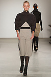 Barbara walks runway in an outfit from the VERDAD Fall Winter 2017 collection by Louis Verdad, on February 12, 2017; at Pier 59 Studios during New York Fashion Week: Women's Fall Winter 2017.