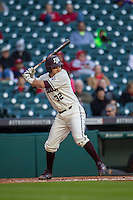Texas A&M Aggies first baseman G.R. Hinkley (32) at bat during Houston College Classic against the Nebraska Cornhuskers on March 6, 2015 at Minute Maid Park in Houston, Texas. Texas A&M defeated Nebraska 2-1. (Andrew Woolley/Four Seam Images)
