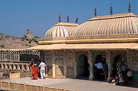 Indien, Festung Amber bei Jaipur, im Palast, Shak Mandir, UNESCO-Weltkulturerbe