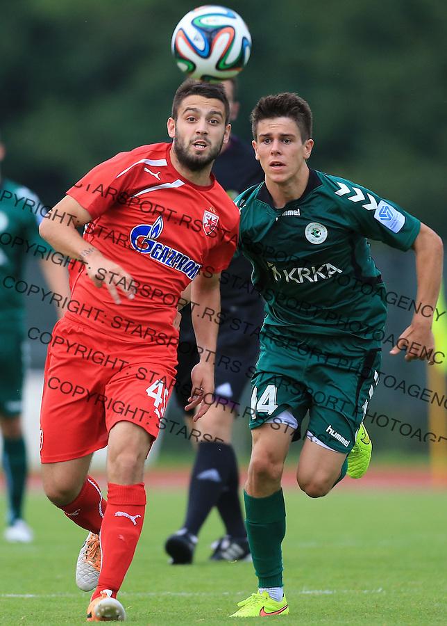 Fudbal season 2013-2014<br /> FK Crvena Zvezda pripreme<br /> Crvena Zvezda v Krka<br /> Milan Jokic (L)<br /> Novo Mesto, 07.12.2014.<br /> foto: Srdjan Stevanovic/Starsportphoto &copy;