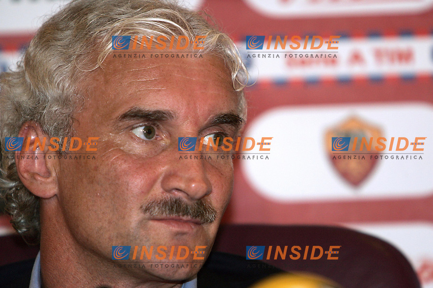 Roma 31/8/2004 Conferenza stampa del nuovo allenatore della Roma Rudi Voeller.<br /> Press conference of new as Roma trainer Rudi Voeller<br /> Foto Andrea Staccioli Insidefoto