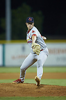 Johnson City Cardinals relief pitcher John Witkowski (43) in action against the Burlington Royals at Burlington Athletic Stadium on September 3, 2019 in Burlington, North Carolina. The Cardinals defeated the Royals 7-2 to even Appalachian League Championship series at one game a piece. (Brian Westerholt/Four Seam Images)
