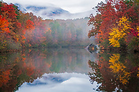 Autumn Reflection on Lake Oolenoy, Table Rock State Park