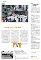 Die Wochenzeitung WOZ (Swiss weekly) on crisis-related civil activity in Hungary, part 2: Heritage protection, 2013.04.11. Photo: Martin Fejer