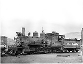 D&amp;RGW #319 at Durango, Colorado. Renumbered from D&amp;RGW #429.<br /> D&amp;RGW  Durango, CO  1945