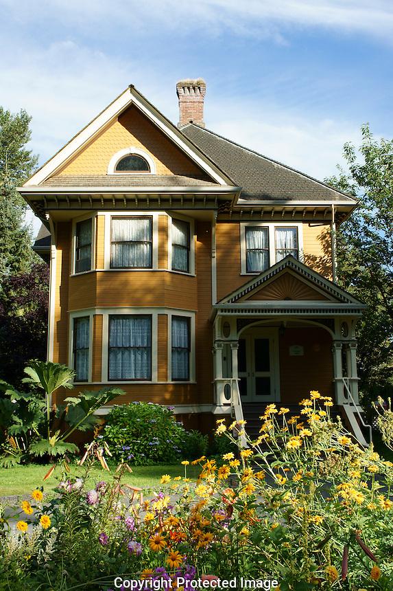 The Burr House or Burvilla, an Edwardian house in Deas Island Regional Park near Vancouver, British Columbia, Canada