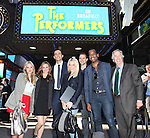 "The cast and creative team from ""The Performers"",  the left actress Jenni Barber, actress Alicia Silverstone, actor Cheyenne Jackson, actress Ari Graynor, playwright David West Read, actor Daniel Breaker and actor Henry Winkler walk through Times Square to view 'The Performers' Marquee for Press Day at the Hard Rock Cafe on Tuesday, Sept. 25, 2012 in New York."