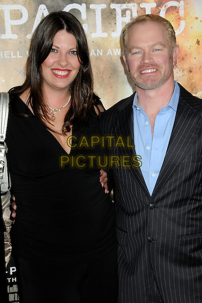 "RUVE ROBERTSON & NEAL McDONOUGH.HBO's ""The Pacific"" Mini-Series Premiere held at Grauman's Chinese Theatre, Hollywood, California, USA..February 24th, 2010.half length dress shirt married husband wife black blue stubble beard facial hair.CAP/ADM/BP.©Byron Purvis/AdMedia/Capital Pictures."
