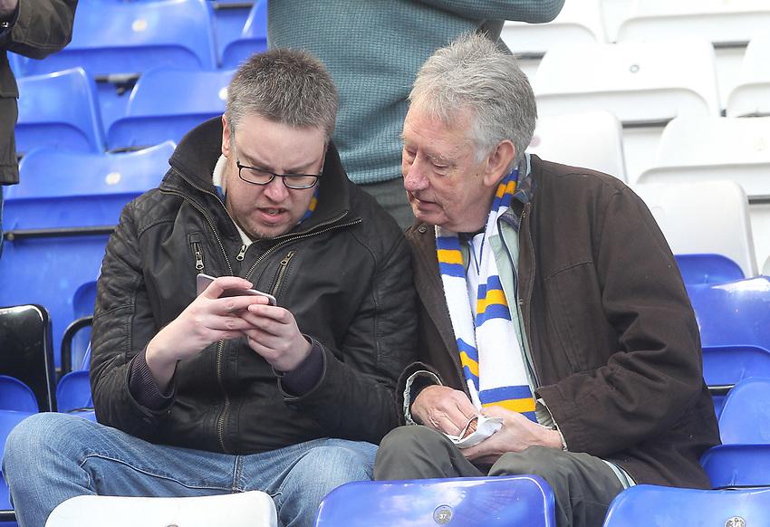 Leeds United's fans await the Kick Off<br /> <br /> Photographer Mick Walker/CameraSport<br /> <br /> The EFL Sky Bet Championship - Birmingham City v Leeds United - Saturday 6th April 2019 - St Andrew's - Birmingham<br /> <br /> World Copyright © 2019 CameraSport. All rights reserved. 43 Linden Ave. Countesthorpe. Leicester. England. LE8 5PG - Tel: +44 (0) 116 277 4147 - admin@camerasport.com - www.camerasport.com