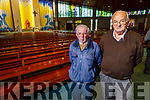 John Mason and Matt Flaherty attending Mass in St  Brendans Church on Monday morning as Churches reopen for mass