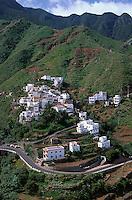 Spanien, Kanarische Inseln, Teneriffa, Anagagebirge, Blick auf Taganana