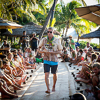 Namotu Island Resort, Namotu, Fiji. (Saturday May 31, 2014) Mick Fanning (AUS) –  The official Opening Ceremony for the 2014 Fiji Pro was held this afternoon on Tavarua Island with a tradition blessing and kava ceremony for the officials and Top 34 surfers. Photo: joliphotos.com