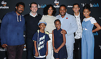 "10 June 2016 - Hollywood. Deon Cole, Jeff Meacham, Miles Brown, Tracee Ellis Ross, Marsai Martin, Anthony Anderson, Marcus Scribner, Yara Shahidi. Arrivals forFYC Event For ABC's ""Black-ish"" held at Dave & Busters. Photo Credit: Birdie Thompson/AdMedia"