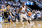 CHAPEL HILL, NC - DECEMBER 20: North Carolina's Kenny Williams (24). The University of North Carolina Tar Heels hosted the Wofford College Terriers on December 20, 2017 at Dean E. Smith Center in Chapel Hill, NC in a Division I men's college basketball game. Wofford won the game, upsetting UNC, 79-75.