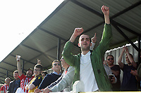 Hornchurch fans enjoy the day after having been promoted during Witham Town vs AFC Hornchurch, Bostik League Division 1 North Football at Spa Road on 14th April 2018