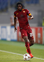 Calcio, Champions League, Gruppo E: Roma vs CSKA Mosca. Roma, stadio Olimpico, 17 settembre 2014.<br /> Roma forward Gervinho, of Ivory Coast, in action during the Group E Champions League football match between AS Roma and CSKA Moskva at Rome's Olympic stadium, 17 September 2014.<br /> UPDATE IMAGES PRESS/Riccardo De Luca