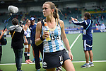 The Hague, Netherlands, June 14: Carla Rebecchi #11 of Argentina looks on after the field hockey bronze medal match (Women) between USA and Argentina on June 14, 2014 during the World Cup 2014 at Kyocera Stadium in The Hague, Netherlands. Final score 2-1 (2-1)  (Photo by Dirk Markgraf / www.265-images.com) *** Local caption ***
