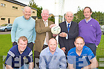HONOURED: Kerry All Ireland winning goalkeepers who were honoured at the Legion club 80th anniversary celebrations in the Legion clubhouse, Killarney on Monday evening front l-r: Johnny Culloty, Johnny Foley, Gary O'Mahony. Back l-r: Charlie Nelligan, Declan O'Keeffe, Diarmuid Murphy and Peter O'Leary.
