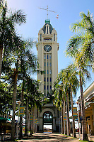 Aloha Tower at Aloha Tower Marketplace, Honolulu Harbor, O'ahu.