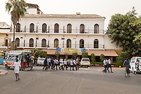 Senegal, Saint Louis.  Hotel de la Poste, Historic Hotel from the Colonial Era.