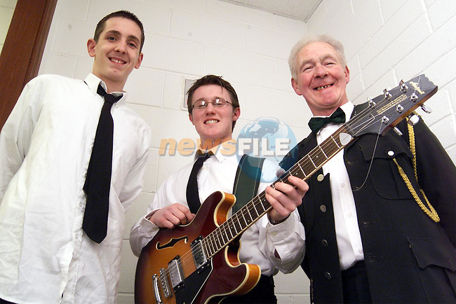 Glenn Rooney, Oberstown, Niall Callan, Dundalk Road and Kevin O'Brien, Drogheda Road at the Christmas concert by Ardee Concert Band in the Bohemian centre, Ardee..Picture: Paul Mohan/Newsfile