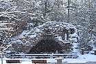Grotto and snow