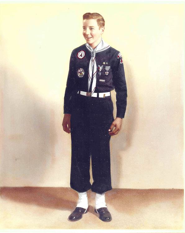 UNITED STATES - Attic Image: This photo was taken of Mike Enzi, R-Wyo., in Sheridan, Wyoming in 1958 when the senator was 14 years old. He already had his Eagle Scout and he is wearing his Boy Scout explorer uniform. He and his troop researched and built rockets. (Photo By FILE PHOTO/Roll Call)