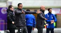 Chesterfield manager Jack Lester shouts instructions to his team from the technical area<br /> <br /> Photographer Chris Vaughan/CameraSport<br /> <br /> The EFL Sky Bet League Two - Lincoln City v Chesterfield - Saturday 7th October 2017 - Sincil Bank - Lincoln<br /> <br /> World Copyright &copy; 2017 CameraSport. All rights reserved. 43 Linden Ave. Countesthorpe. Leicester. England. LE8 5PG - Tel: +44 (0) 116 277 4147 - admin@camerasport.com - www.camerasport.com