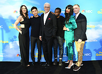 "07 June 2019 - North Hollywood, California - D'Arcy Carden, Manny Jacinto, Ted Danson, William Jackson Harper, Jameela Jamil, Marc Evan Jackson. FYC Event for NBC's ""The Good Place"" held at Saban Media Center at the Television Academy. Photo Credit: Birdie Thompson/AdMedia"