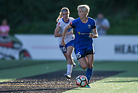 Seattle, WA - Saturday July 15, 2017: Christen Westphal, Megan Rapinoe during a regular season National Women's Soccer League (NWSL) match between the Seattle Reign FC and the Boston Breakers at Memorial Stadium.