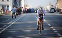Jasper Stuyven (BEL/Trek Factory-Segafredo) starts a 16 kilometre solo to the finish<br /> <br /> Kuurne-Brussel-Kuurne 2016