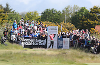 Thursday 28 May 2015; Rory McIlroy, Northern Ireland, tees up at the 17th<br /> <br /> Dubai Duty Free Irish Open Golf Championship 2015, Round 1 County Down Golf Club, Co. Down. Picture credit: John Dickson / SPORTSFILE